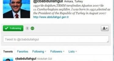 Abdullah Gül Dünya Liderleri Arasında Twitter'da 7.Sıraya Yükseldi