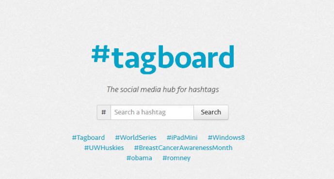 Hashtag Tabanlı Sosyal Arama Aracı TagBoard