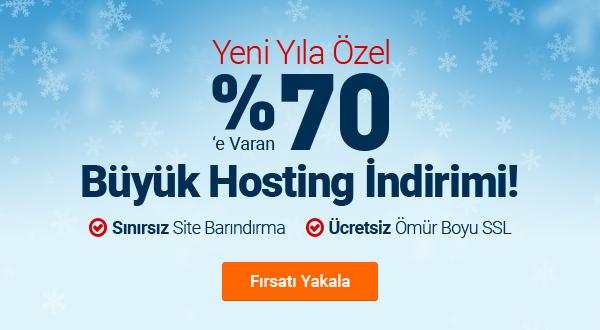 Yeni Yıla Özel %70 Hosting İndirimi!